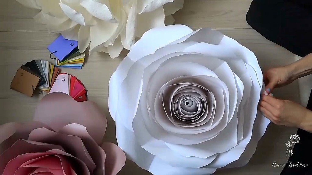 "DIY tutorial ""Rose  from design paper"" Try it just for 1$!"