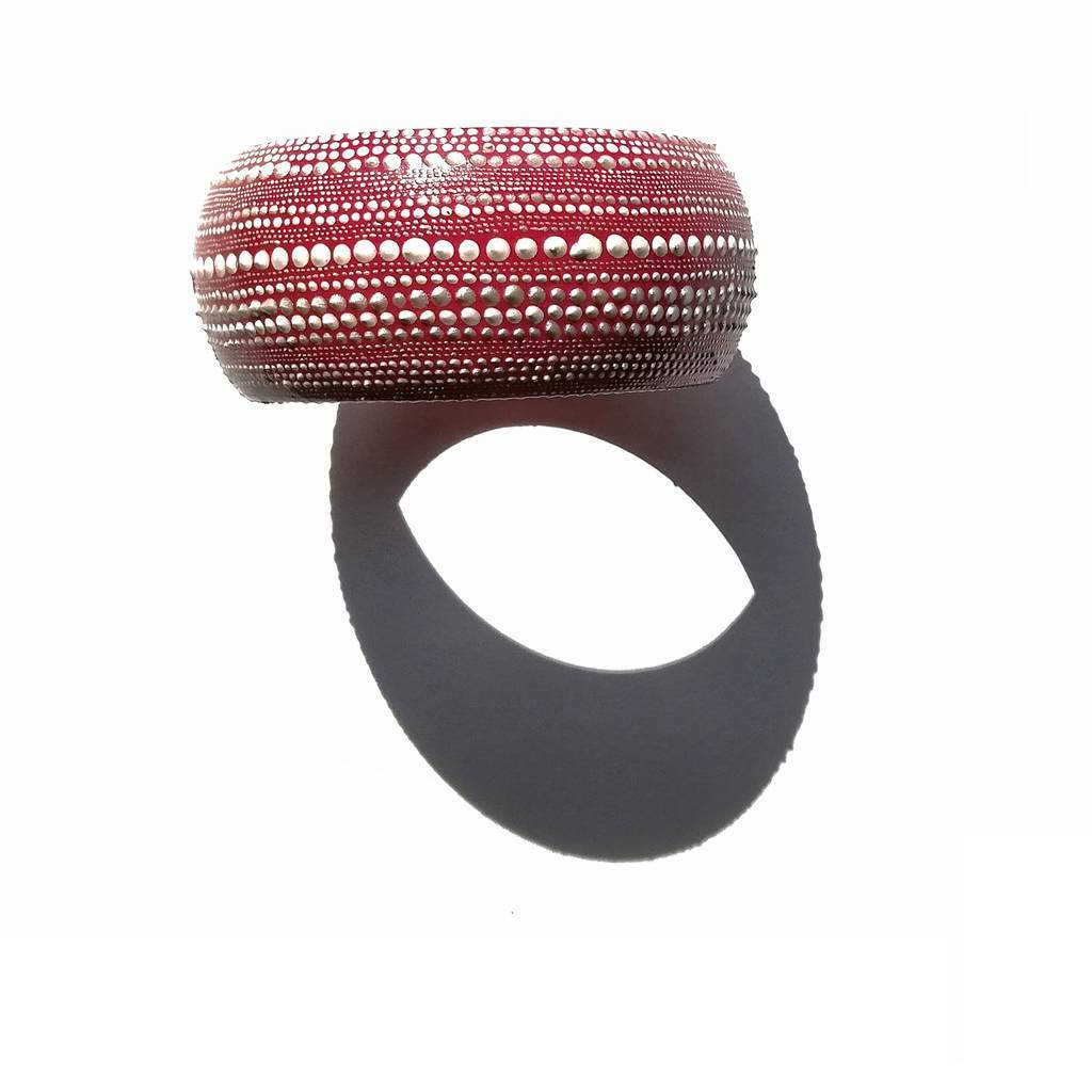 Medium bangle bracelet. LINE. ON THE RED