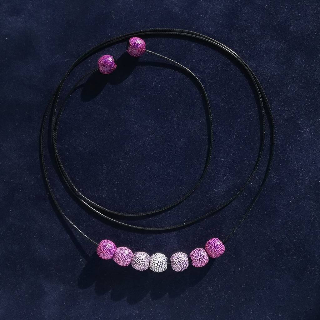 Mini necklace-transformer 10mm. GRADIENT. PINK