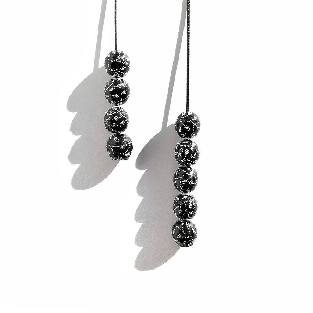 Mini necklace-transformer 13mm. GARDEN. BLACK CURRANT