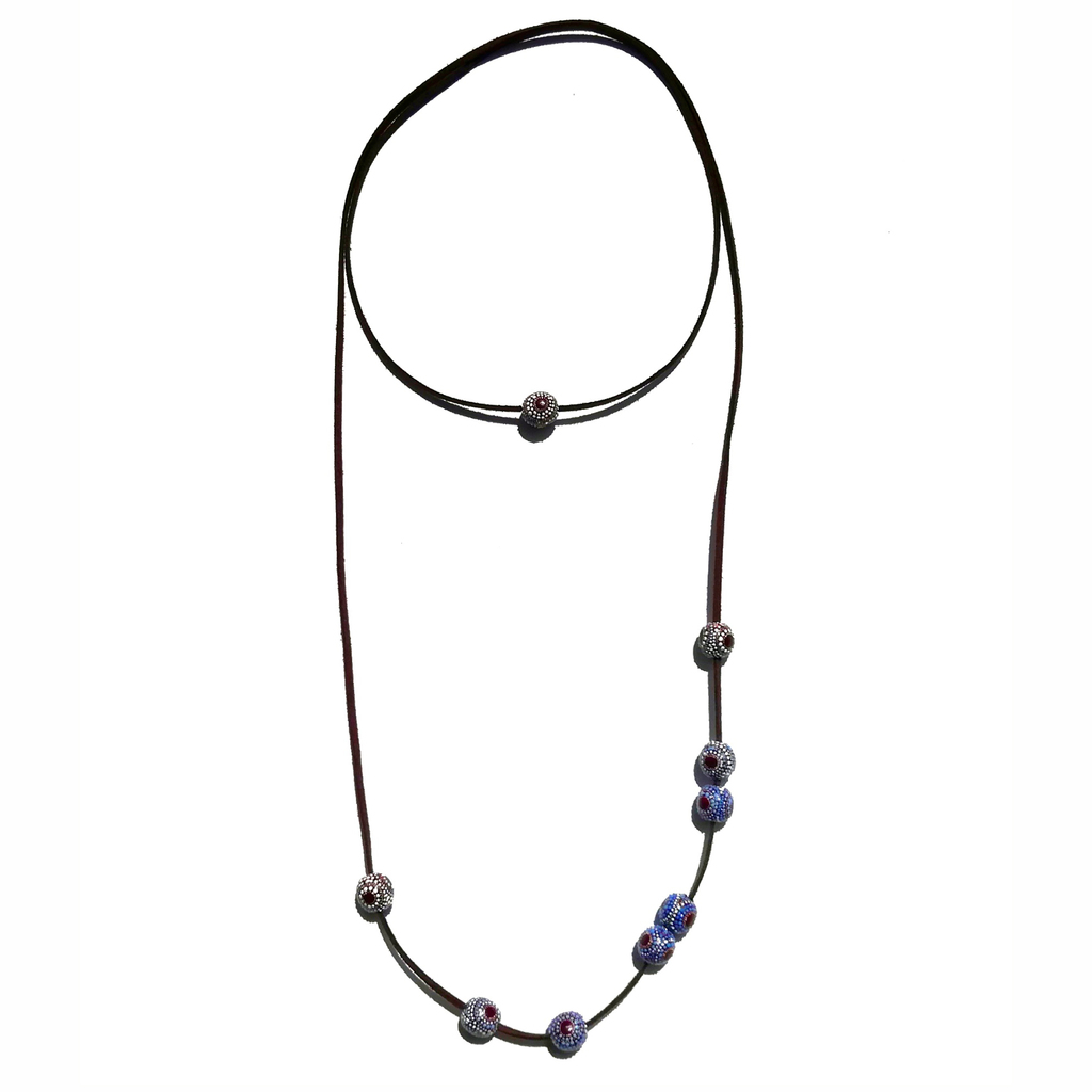 Mini necklace-transformer 13mm. AROUND. PURPLE