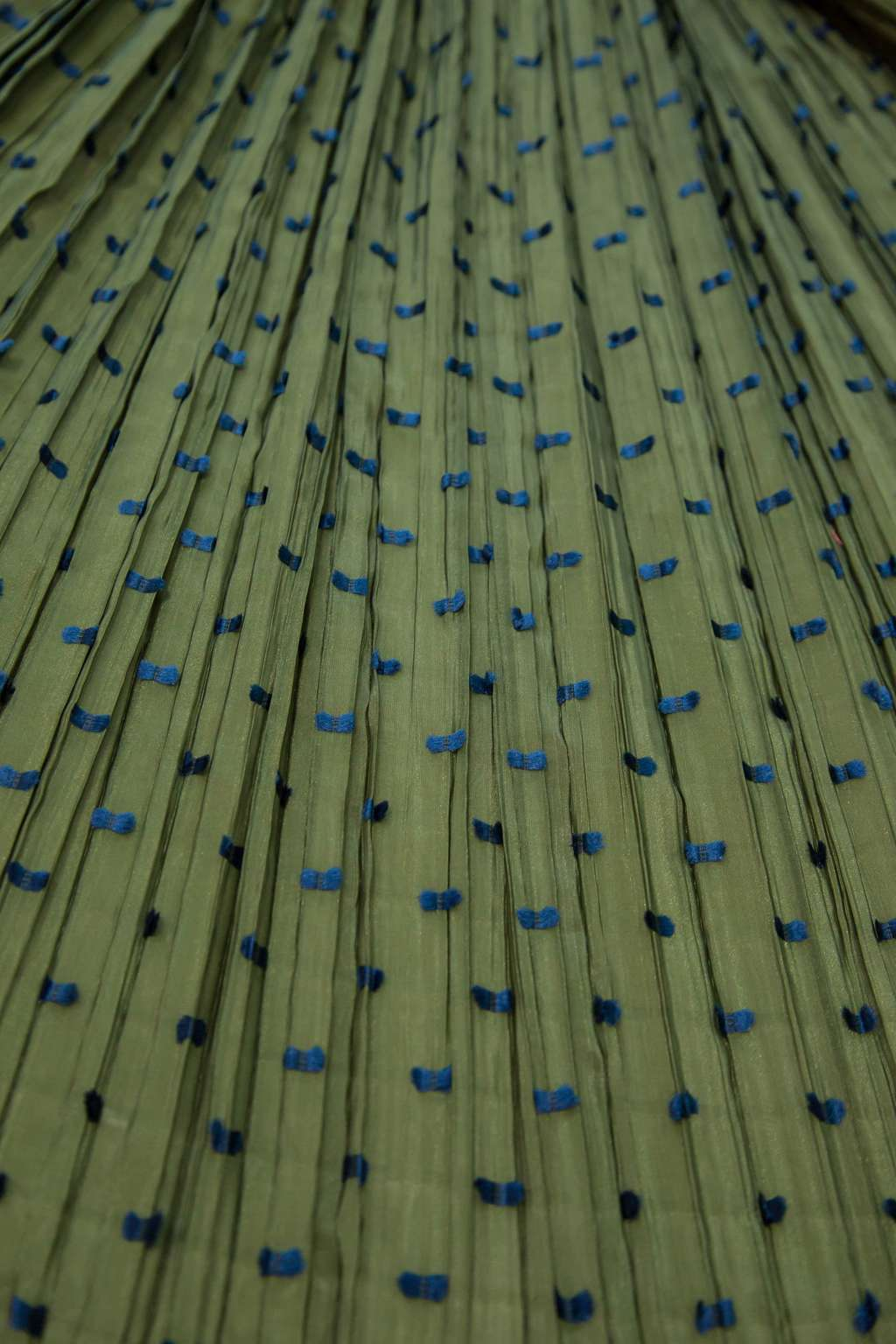 Ebre' Green Dis.60 Pleated Fabric