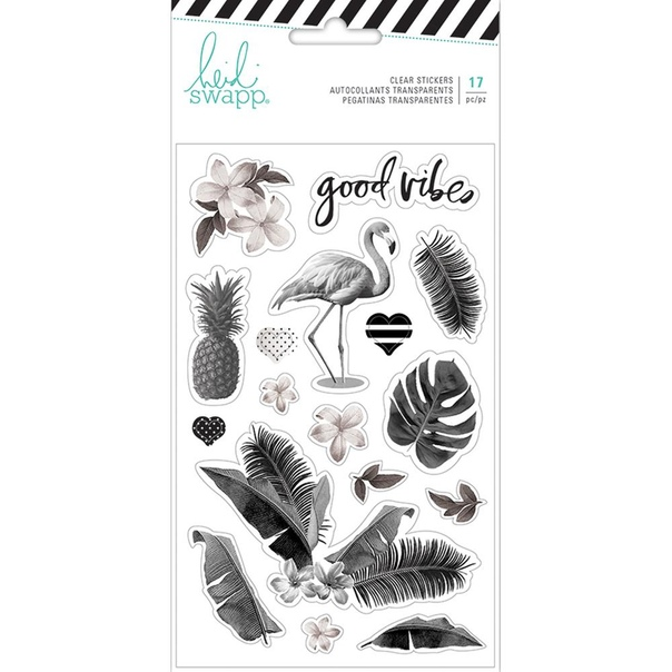HEIDI SWAPP PINEAPPLE CRUSH CLEAR STICKERS