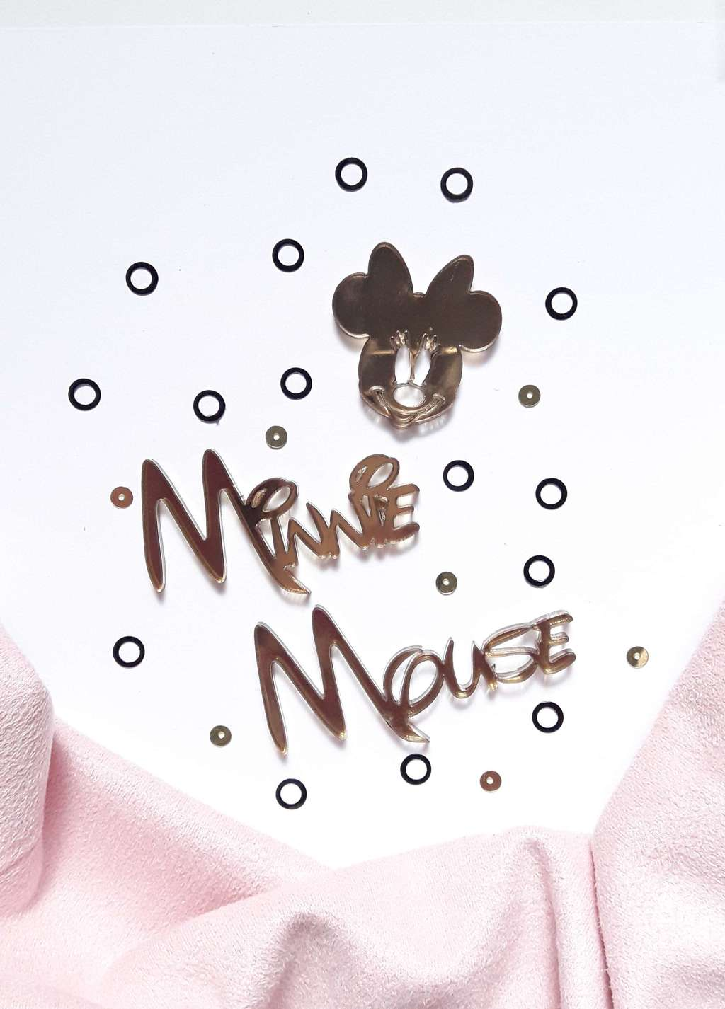 Acrylic stickers set Minnie Mouse
