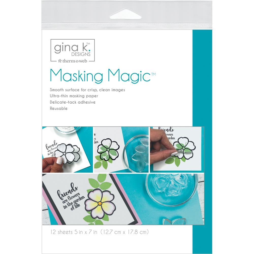 "Маскировочная бумага Gina K Designs Masking Magic Sheets 5""X7"" 12/Pkg"