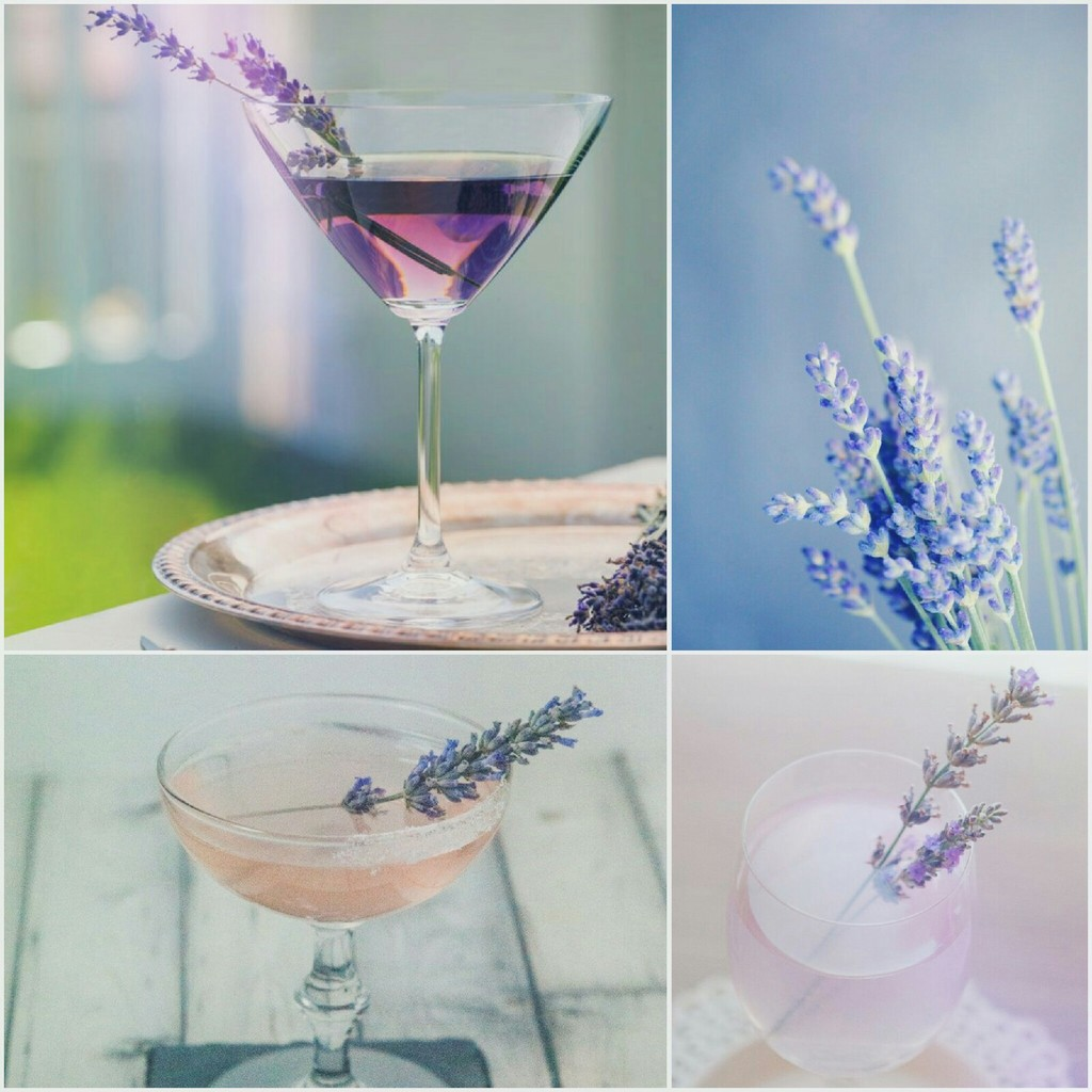 Martini with lavender