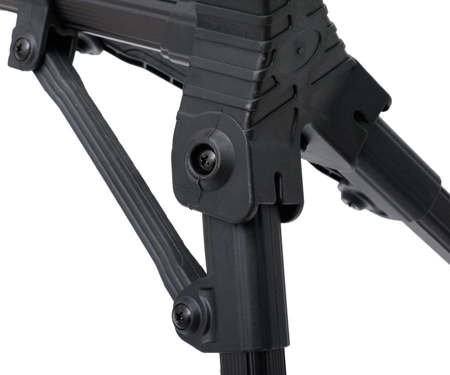 Black EVA Rod rest on telescopic legs, 12 sections