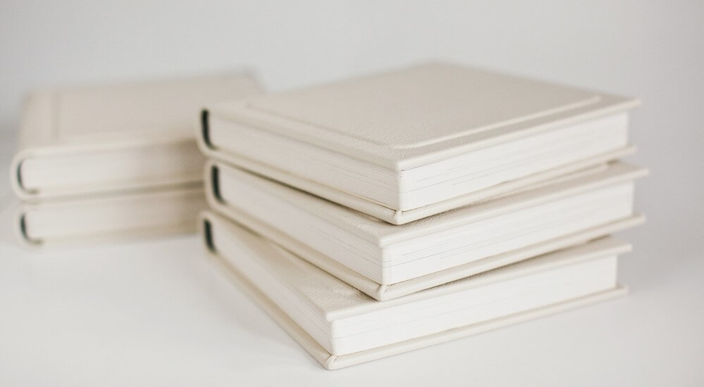 white photo albums with leather cover