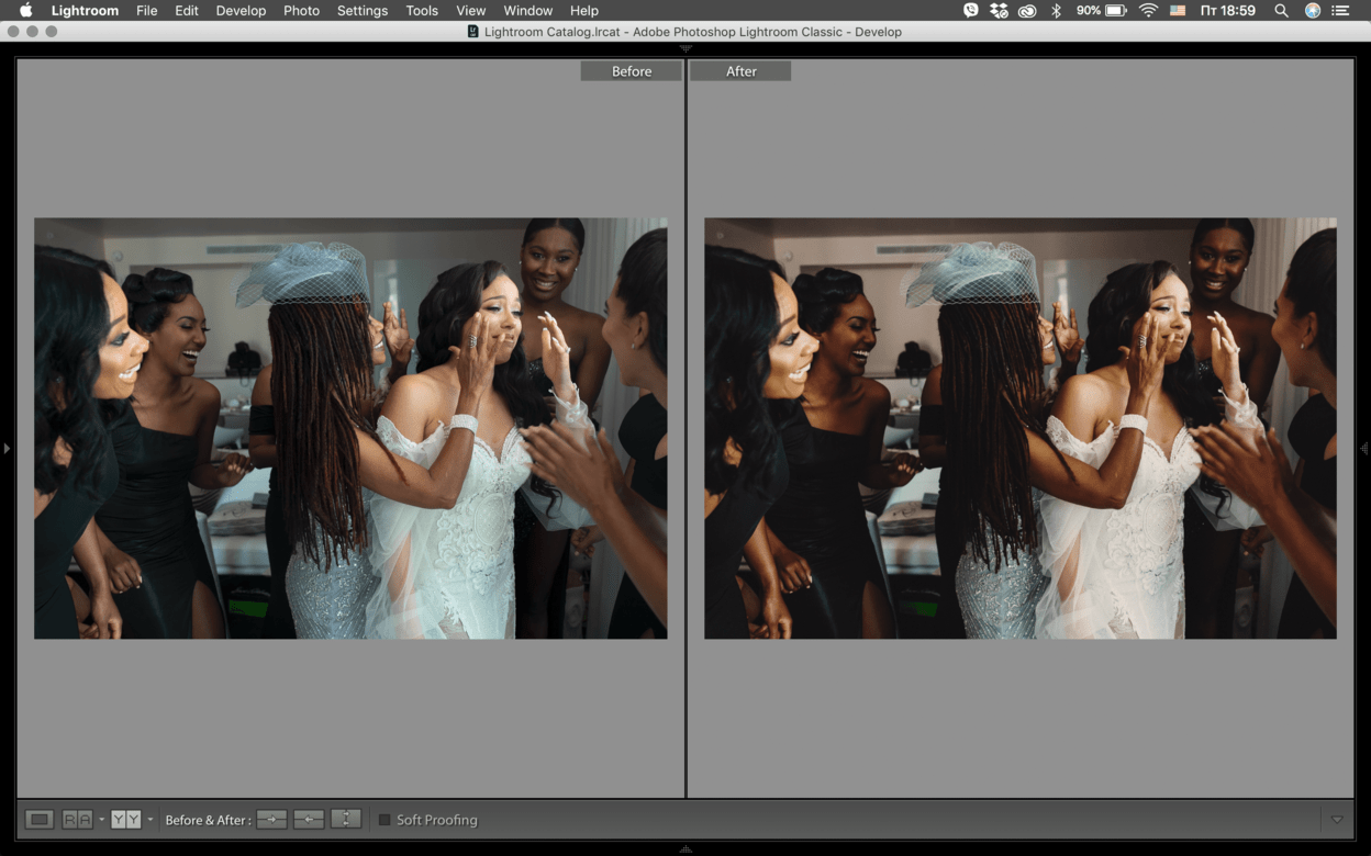 Wedding MIAMI - 1 GOLD Skin Lightroom Preset