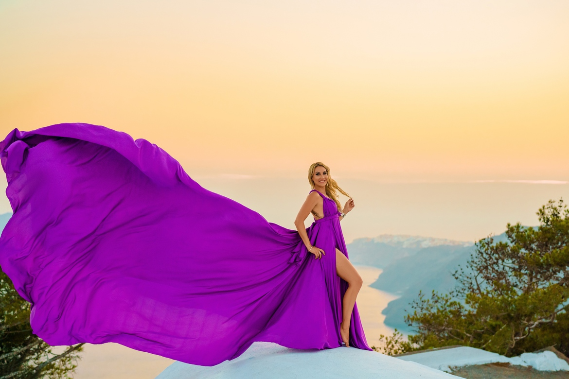6. Purple dress