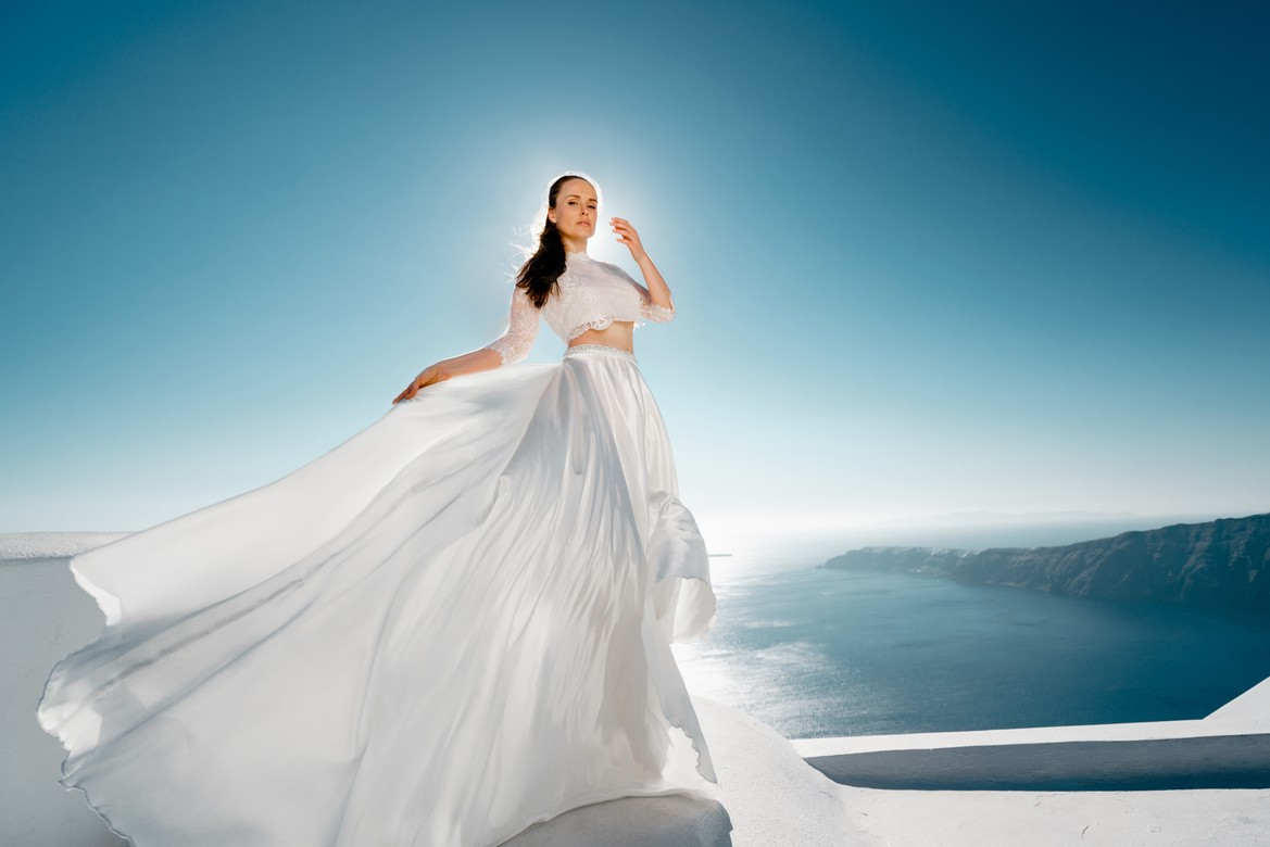 14. Wedding gown with satin skirt