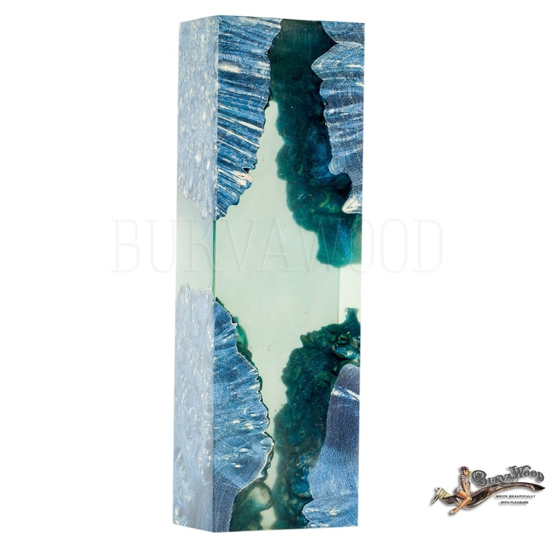 "Preorder Obliquepenholder  ""Blue Ice Light"""