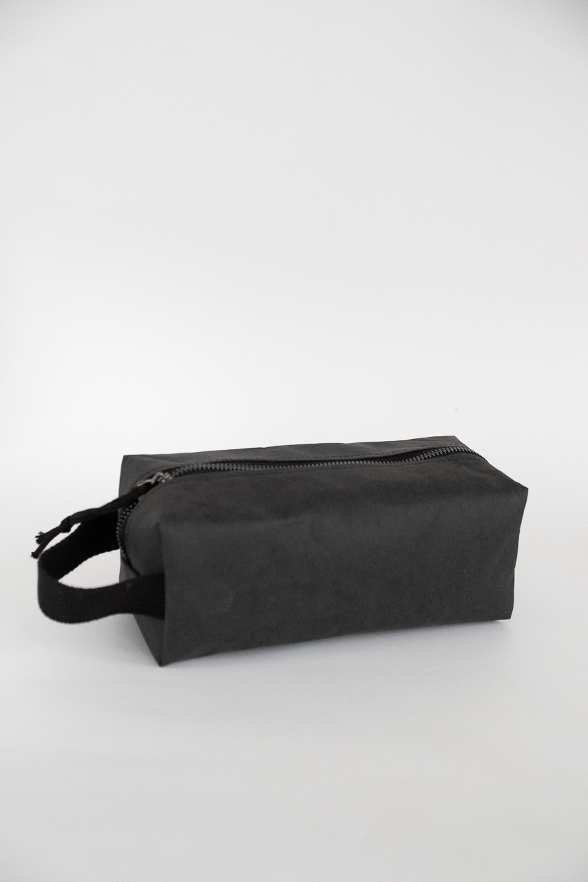 Dopp kit kraft textile M black