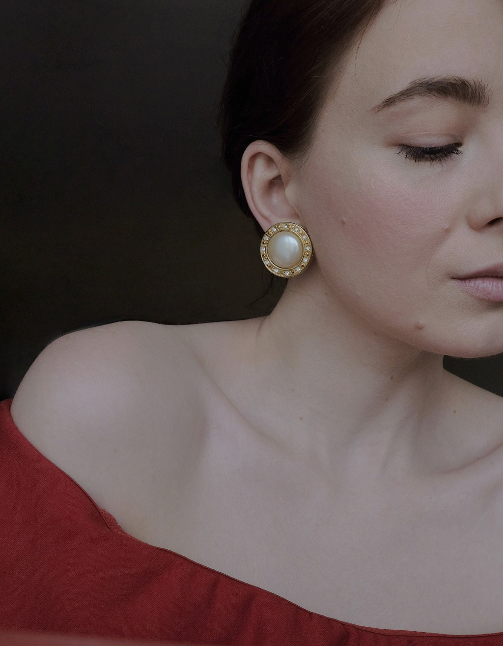 Liz Claborne Pearl Clip On Earrings