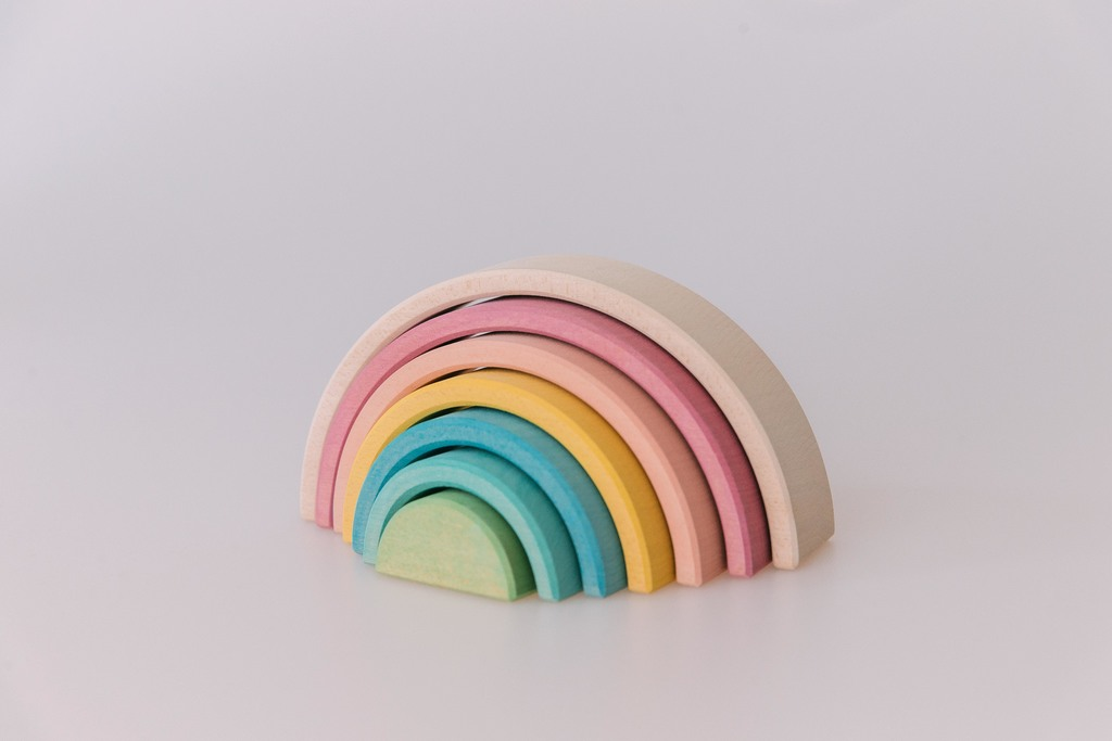 Pastel rainbow stacker small