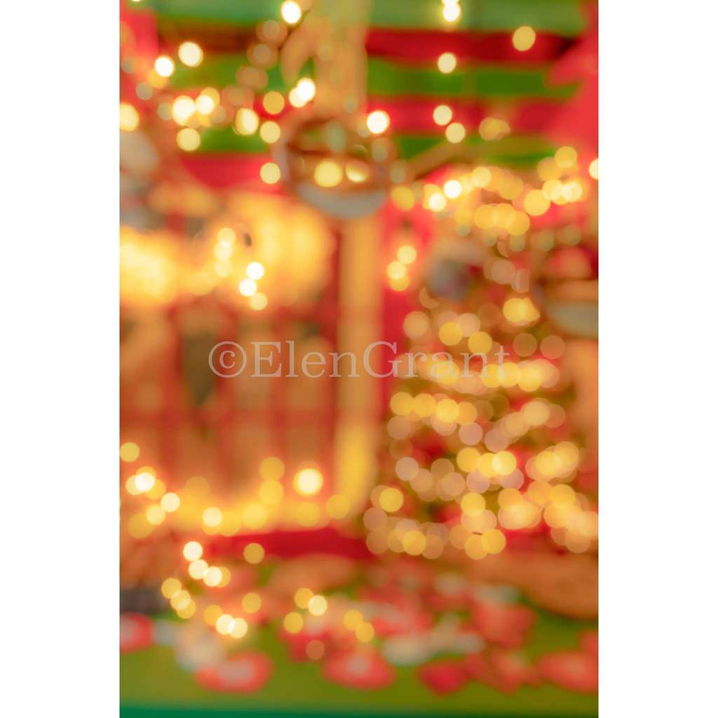 Abstract Christmas bokeh defocused background