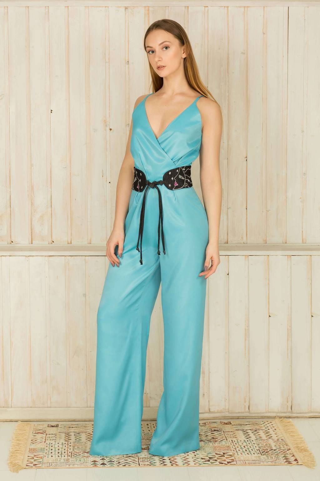 Jumpsuit with spaghetti straps