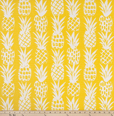OUTDOOR FABRIC - PINEAPPLE PINEAPPLE LUXE POLYESTER