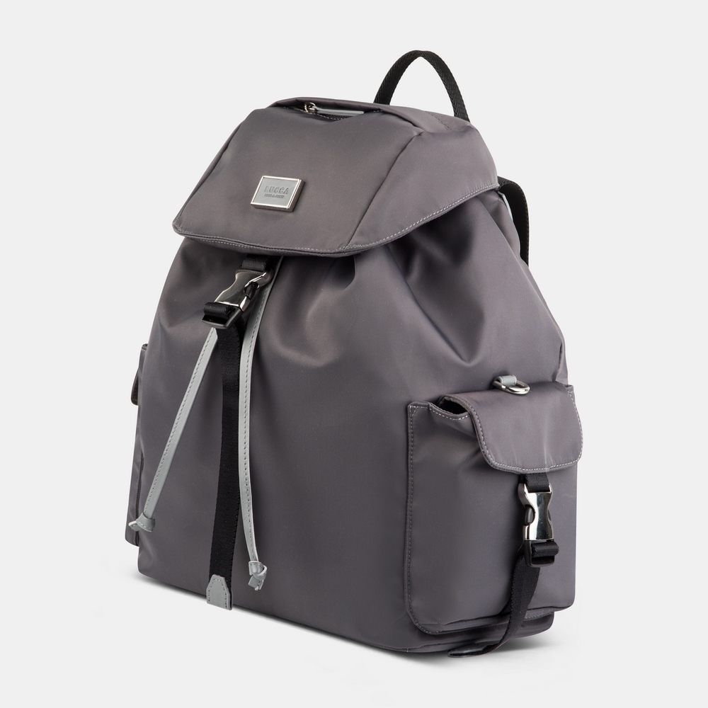 Grey backpack Nylon Lucca