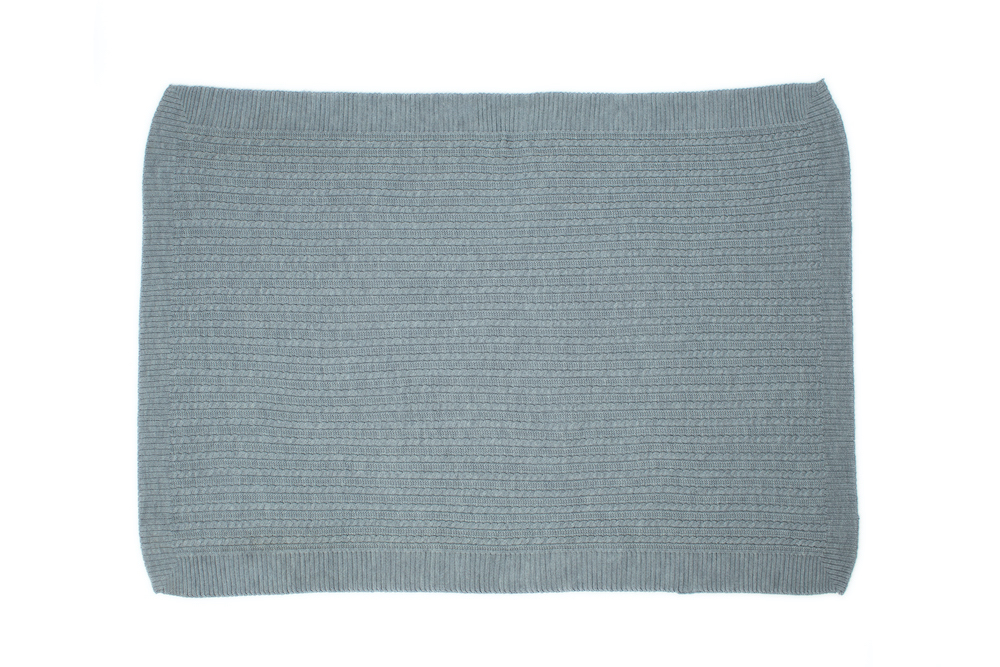 Blanket with braids Extrofine Merino Wool
