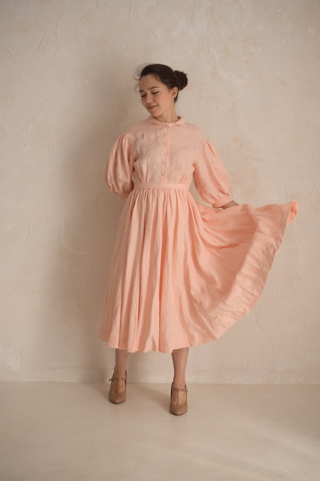 Meg dress with sleeves 3/4