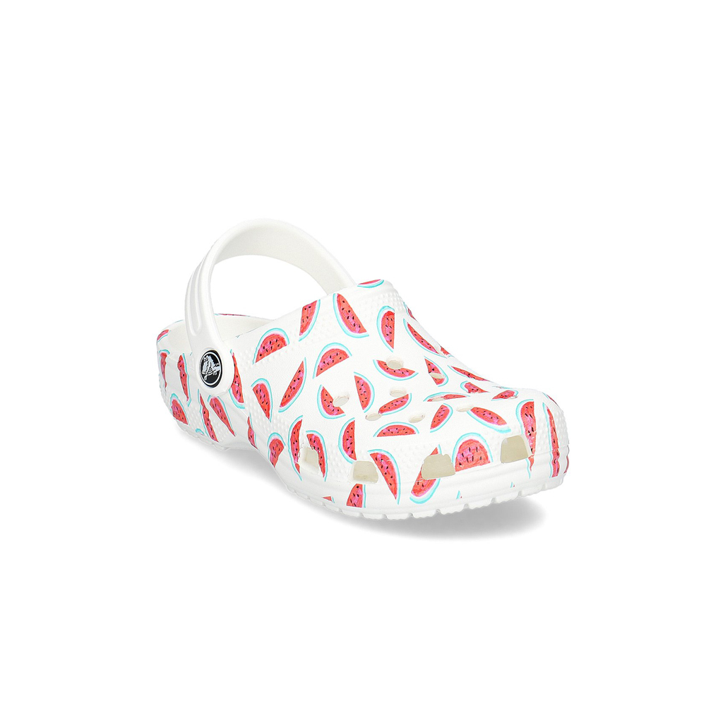 Детские сабо CROCS Kids' Classic Seasonal Graphic Clog, белый