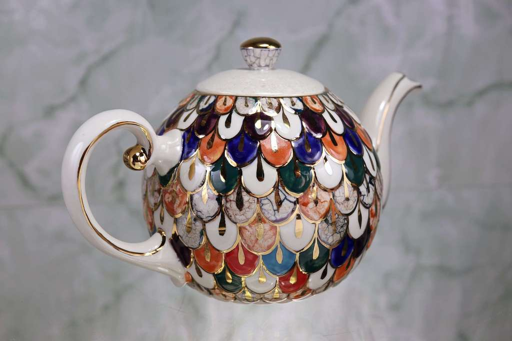 "Handmade porcelain teapot ""The Firebird"""