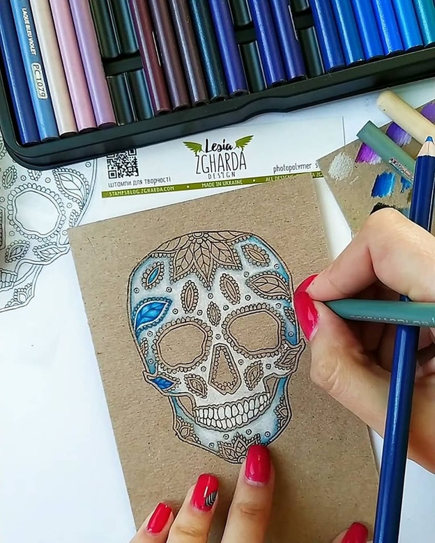 "{LM001} Stamp ""Calavera (large)"""