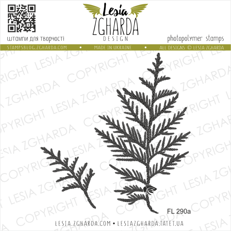 Lesia Zgharda Stamps {FL290a} Stamp Set white cedar leaf. A lot of nature stamps products, leaves stamps, leaf stamps, floral stamp and others clear stamp you can find in the store lesia.zgharda.com Welcome!