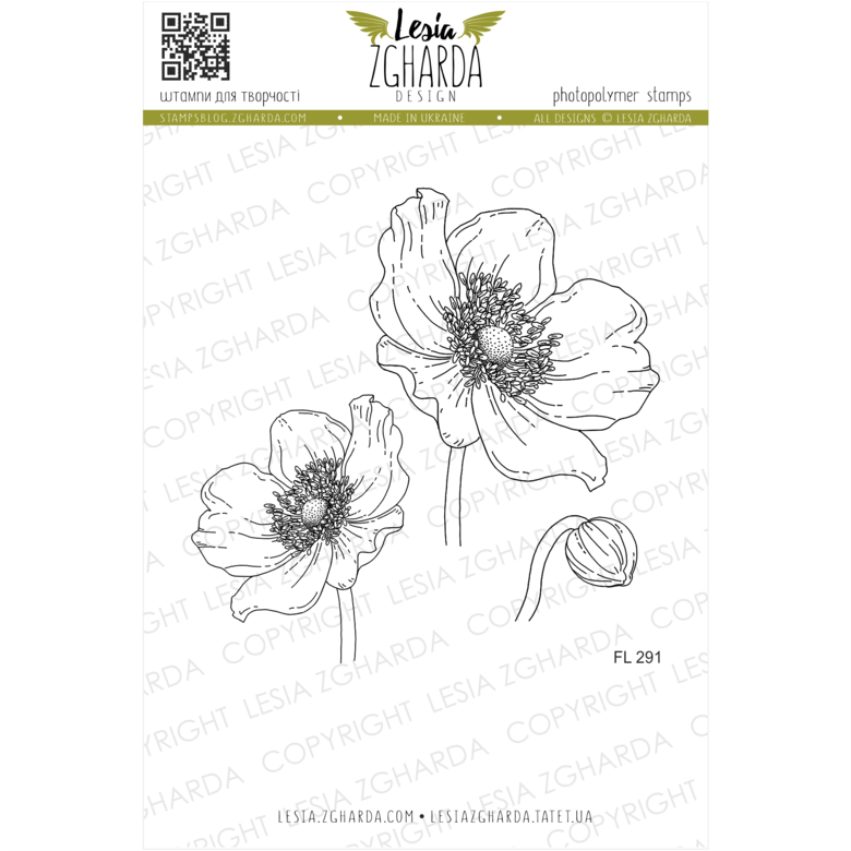 Lesia Zgharda Stamps {FL291} Anemone stamp set. A lot of floral stamps, anemone stamp, flower stamps, nature stamps, spring stamps and others clear stamp you can find in the store lesia.zgharda.com Welcome!