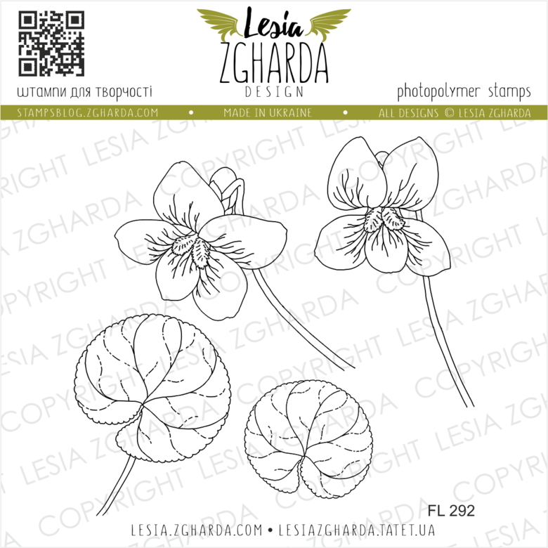 Lesia Zgharda Stamps {FL292} Violets flowers stamp set. A lot of floral stamps, violets flowers stamp, flower stamps, nature stamps, spring stamps and others clear stamp you can find in the store lesia.zgharda.com Welcome!