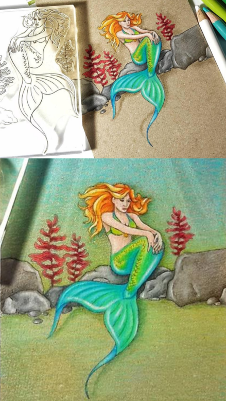 Amazing sea cards ideas with the mermaid stamp set by Lesia Zgharda clear stamps. A lot of sea stamp, mermaid stamp, coloring stamps, ocean stamps, and others clear stamp you can find in the store lesia.zgharda.com Welcome!