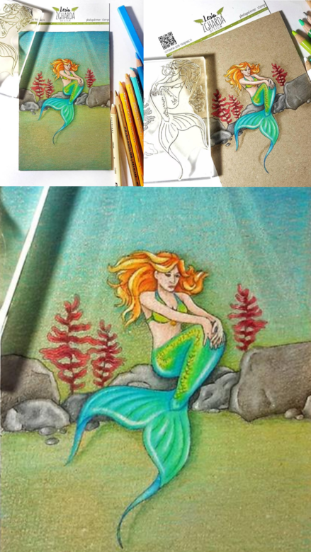 Beautiful stamping card ideas with the mermaid stamp set by Lesia Zghaarda clear stamps. Stamps coloring with pencils PRISMACOLOR. A lot of sea stamp, mermaid stamp, coloring stamps, ocean stamps, and others clear stamp you can find in the store lesia.zgharda.com Welcome!