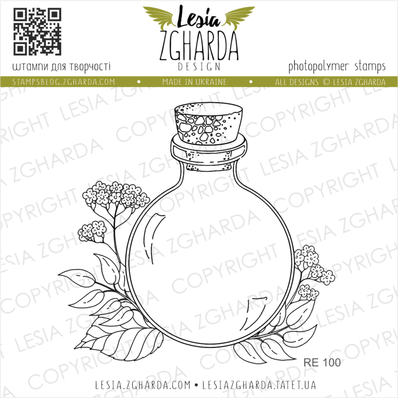 Lesia Zgharda Stamps {RE100} Bottle stamp with flower clear stamps. A lot of the jar clear stamp, branch stamp, flower stamps, jar of love, and others clear stamp for your flower card design you can find in the store lesia.zgharda.com Welcome!