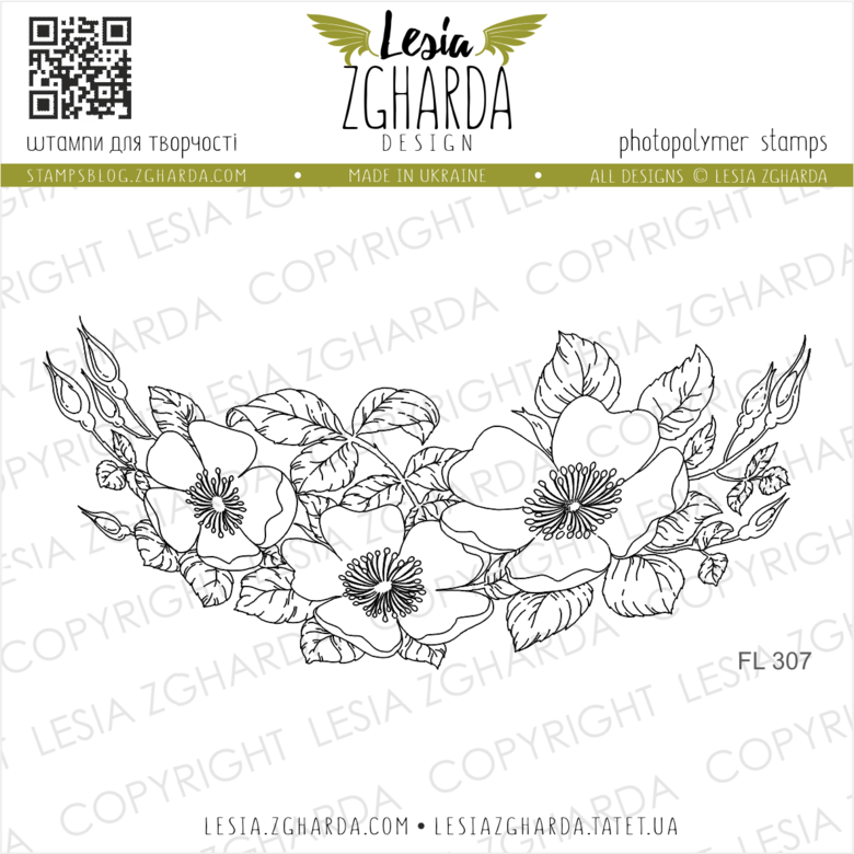 Lesia Zgharda Stamps {FL303} Dog-rose flower stamps. A lot of the flower stamps for card making, roses stamp, floral stamp, and others clear stamp for beautiful handmade greeting cards designs you can find in the store lesia.zgharda.com Welcome!