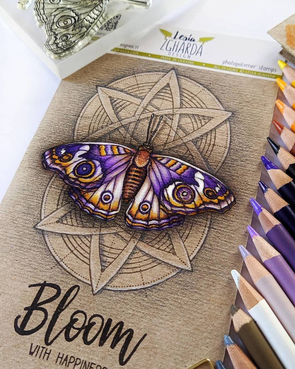 Spring butterfly card make with Lesia Zgharda Stamps