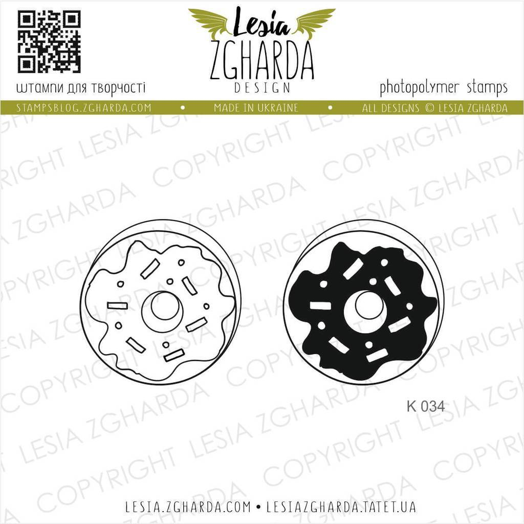 Sweet donut stamps | Lesia Zgharda Sweets Stamps