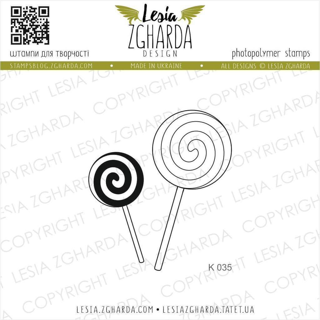 Lollipop stamps | Lesia Zgharda Sweets Stamps