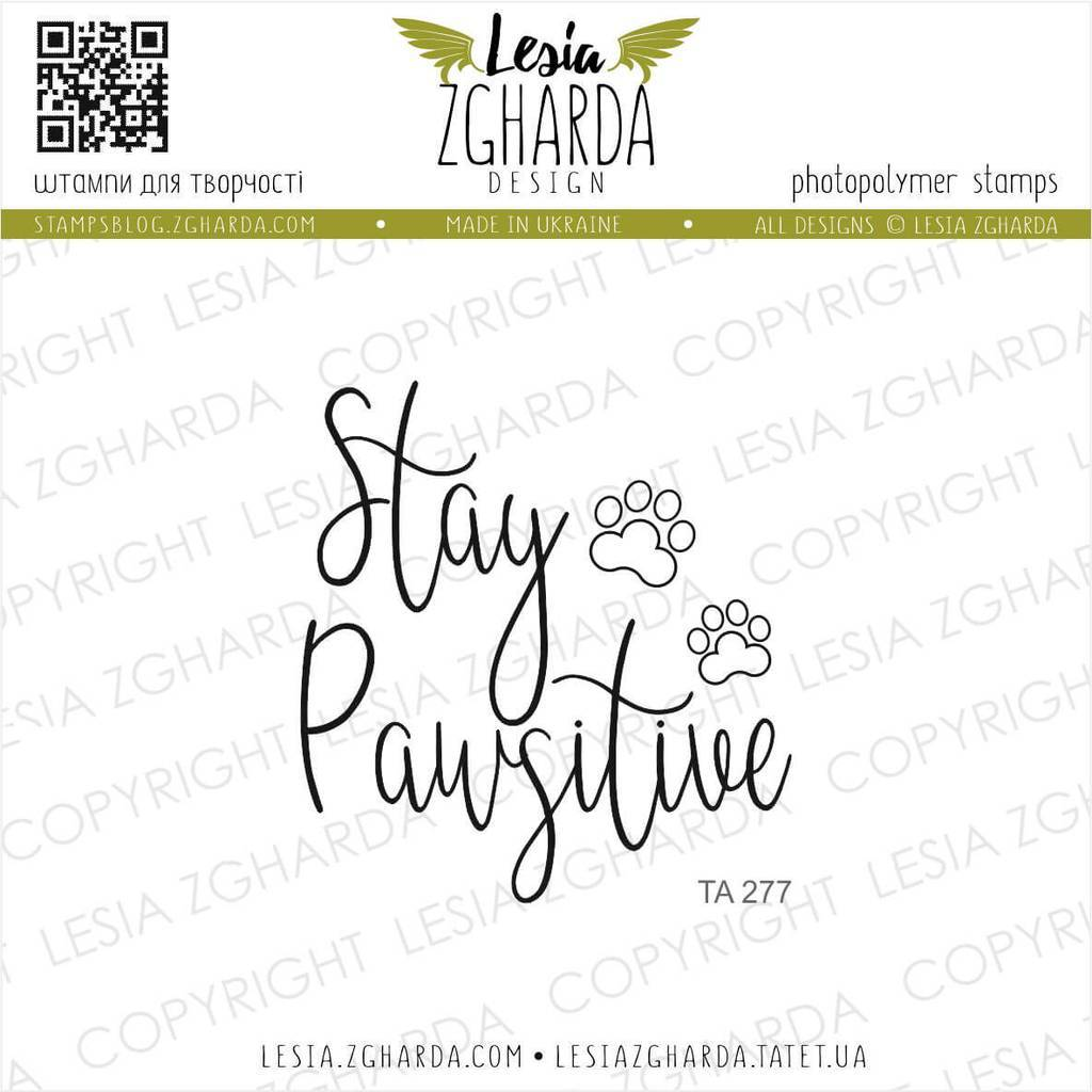 Stay Pawsitive | Lesia Zgharda Sentiment Stamps