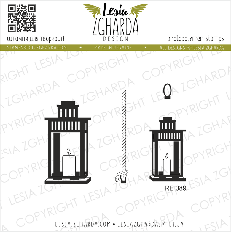 "{RE089} Stamp Set ""Garden candles"""