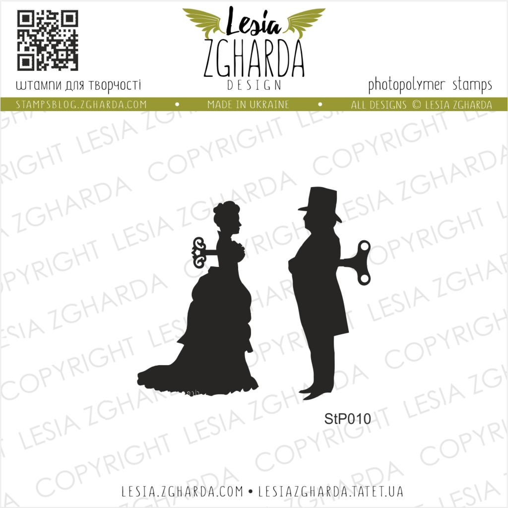 Image - Steampunk lady and gentleman stamp by Lesia Zgharda clear stamps. More loft and steampunk stamps you can find and buy online in our store. Welcome!