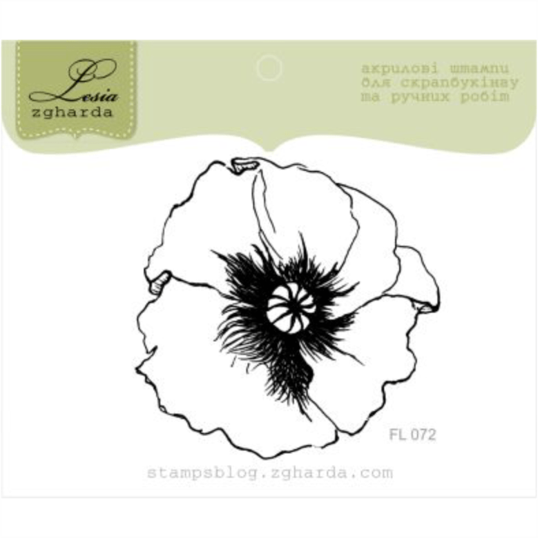 "{FL072} Stamp ""Poppy"""