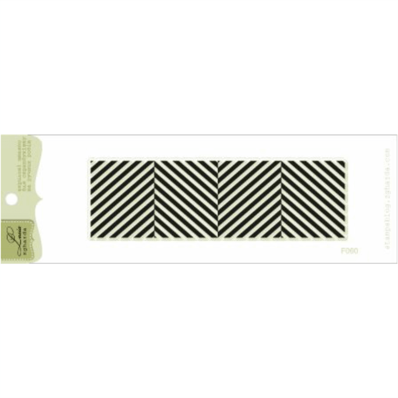 "{F060} Stamp ""Diagonal stripes"""