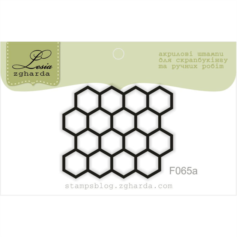 "{F065a} Stamp ""Small hexagons reverse"""