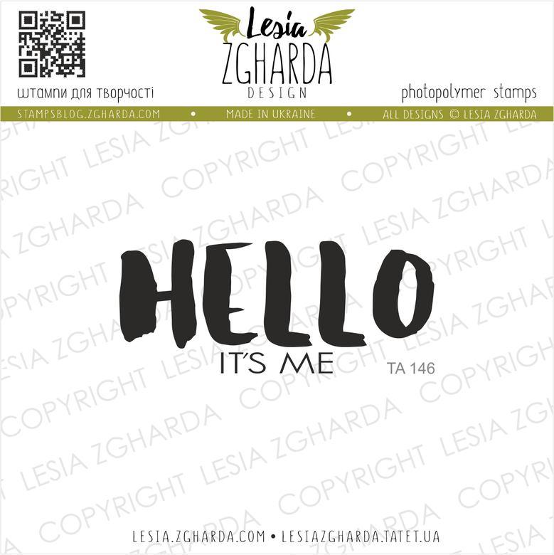 "{TA146} Stamp ""HELLO it`s me"""