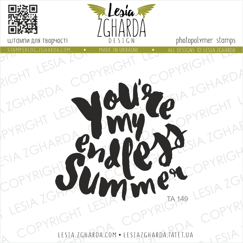 "{TA149} Stamp ""You`re my endless summer"""
