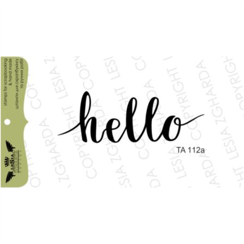 {TA112a} Stamp ''Hello''