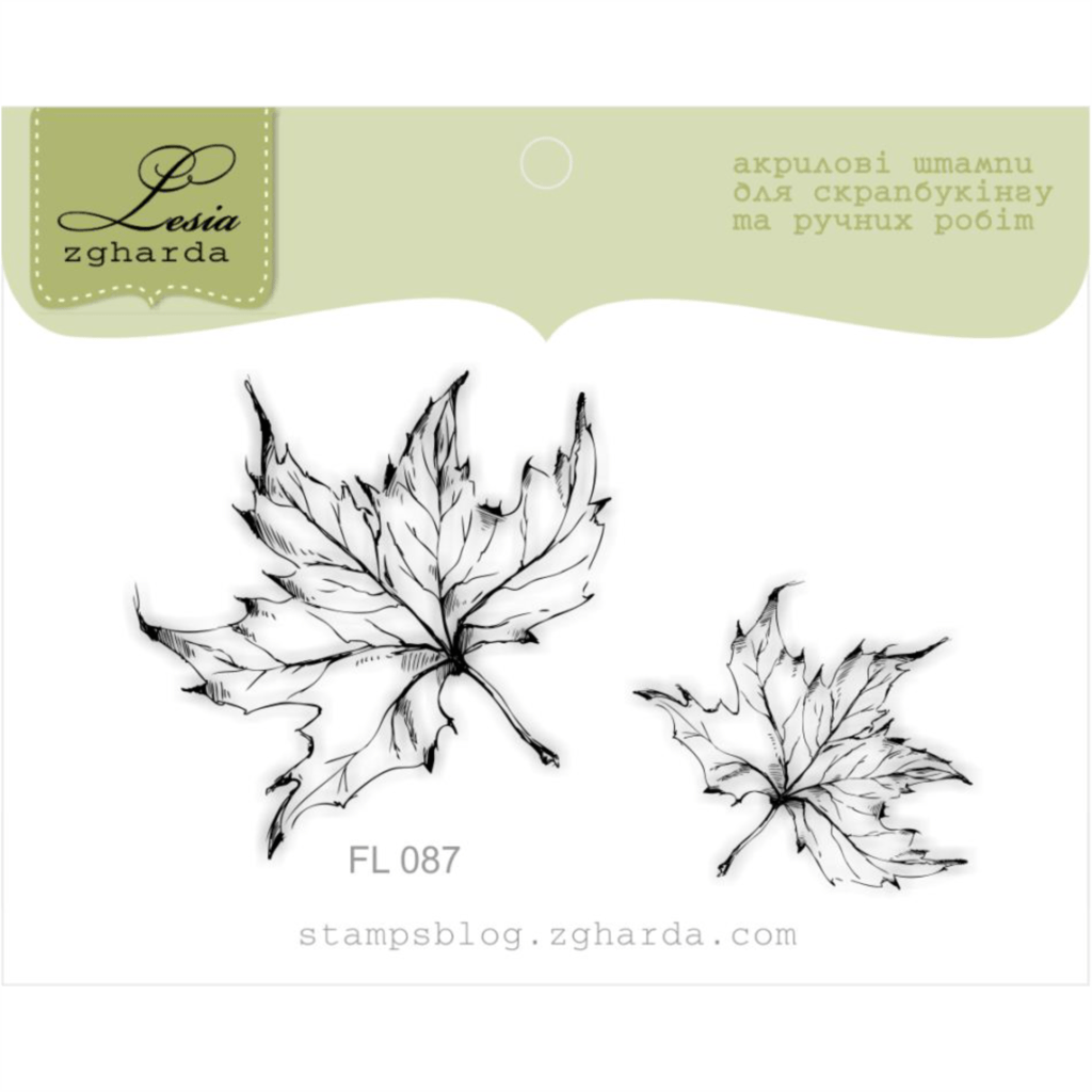Image - Skeleton maple leaves stamps by Lesia Zgharda clear stamps
