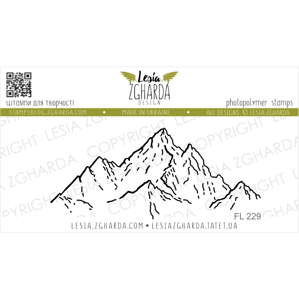 "{FL229} Stamp ""Mountain Tops"""