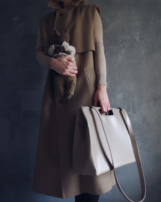 Minimalism in bags Leather Shopper Beige (бежевый)